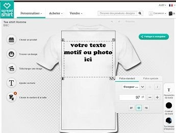 personnalisez vos teeshirt spreadshirt