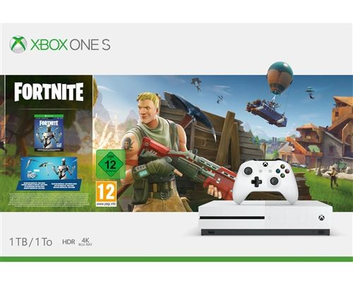 Console Microsoft Xbox One S 1 To + Fortnite