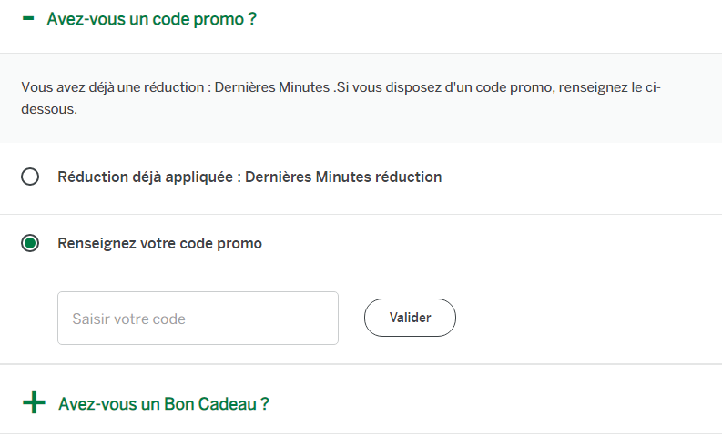 comment utiliser un code promo center parcs