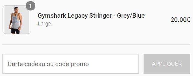 comment utiliser un code promo gymshark