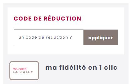 comment utiliser un code promo La Halle