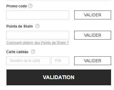 comment utiliser un code promo shein