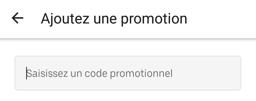 comment utiliser un code promo Uber Eats
