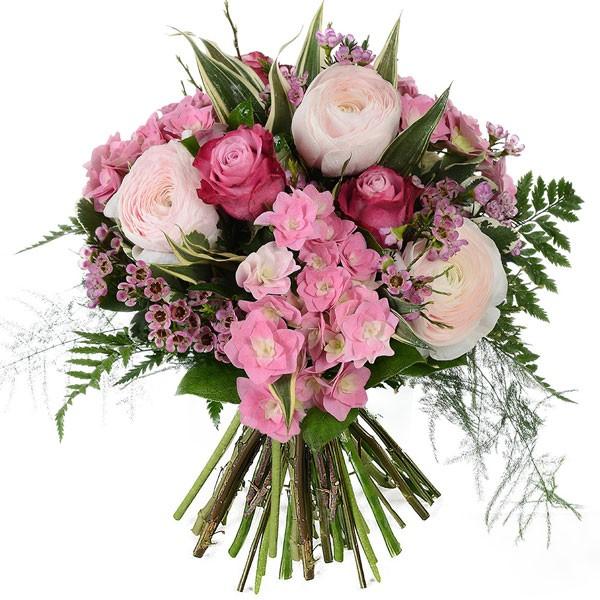 Bouquet rose bohème