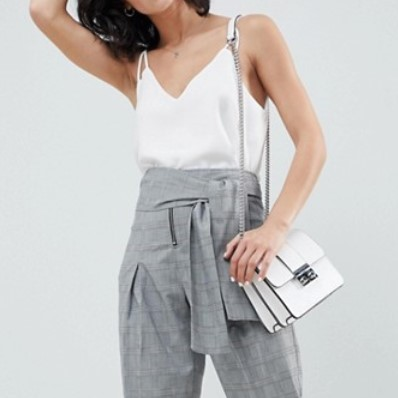 asos pantalon fuselé gris