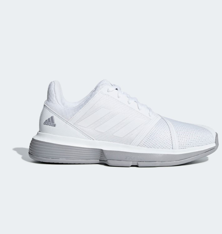 Chaussures adidas courtjam bounce blanche