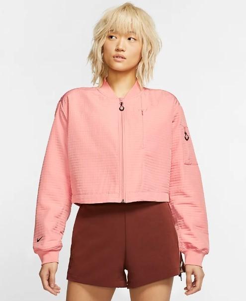 Nike veste rose aviateur tech pack