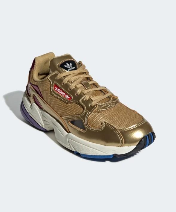 chaussures falcon dorées adidas