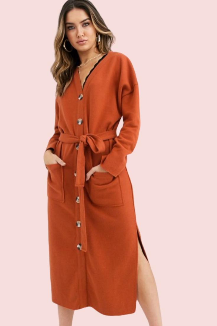 Robe Mi-longue ultra douce