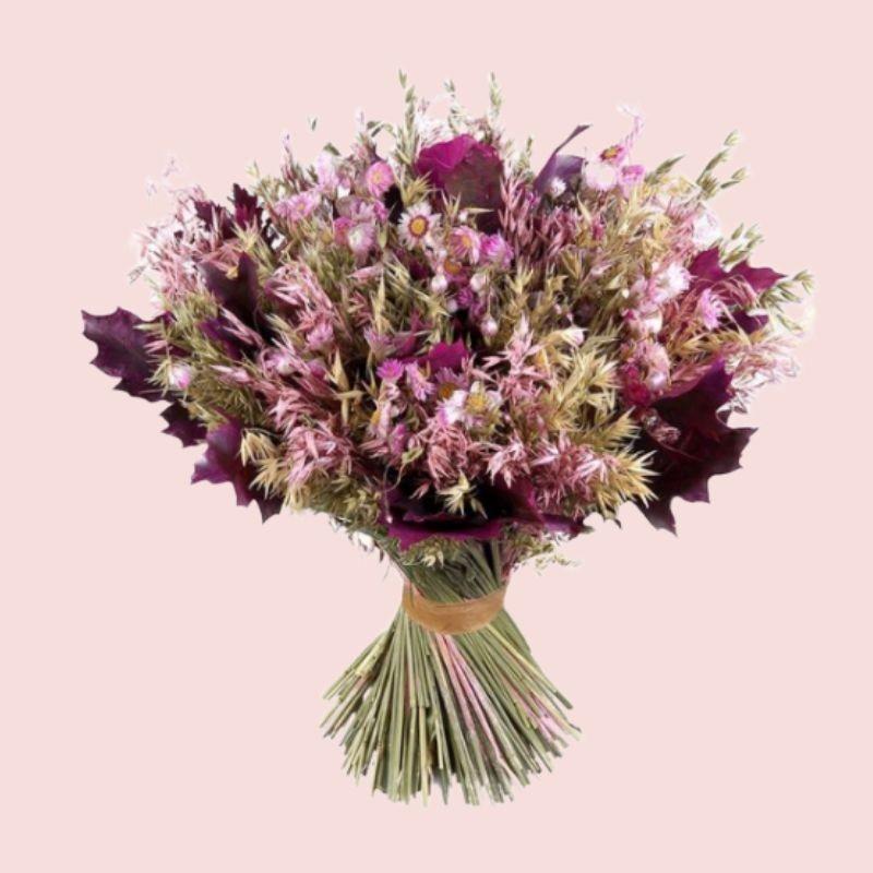 Bouquet de fleurs séchées rose XL