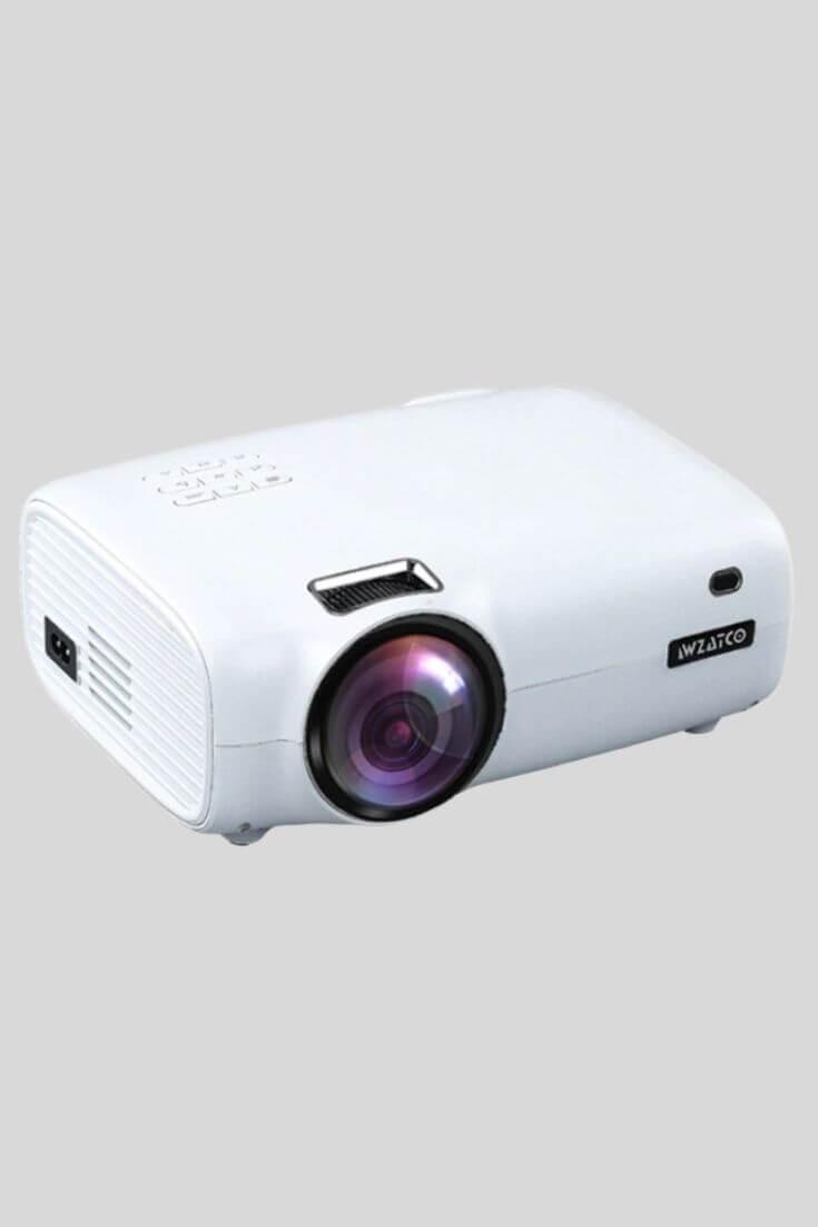 WZATCO E600 Android 9.0 Wifi Smart Portable Mini LED Projector
