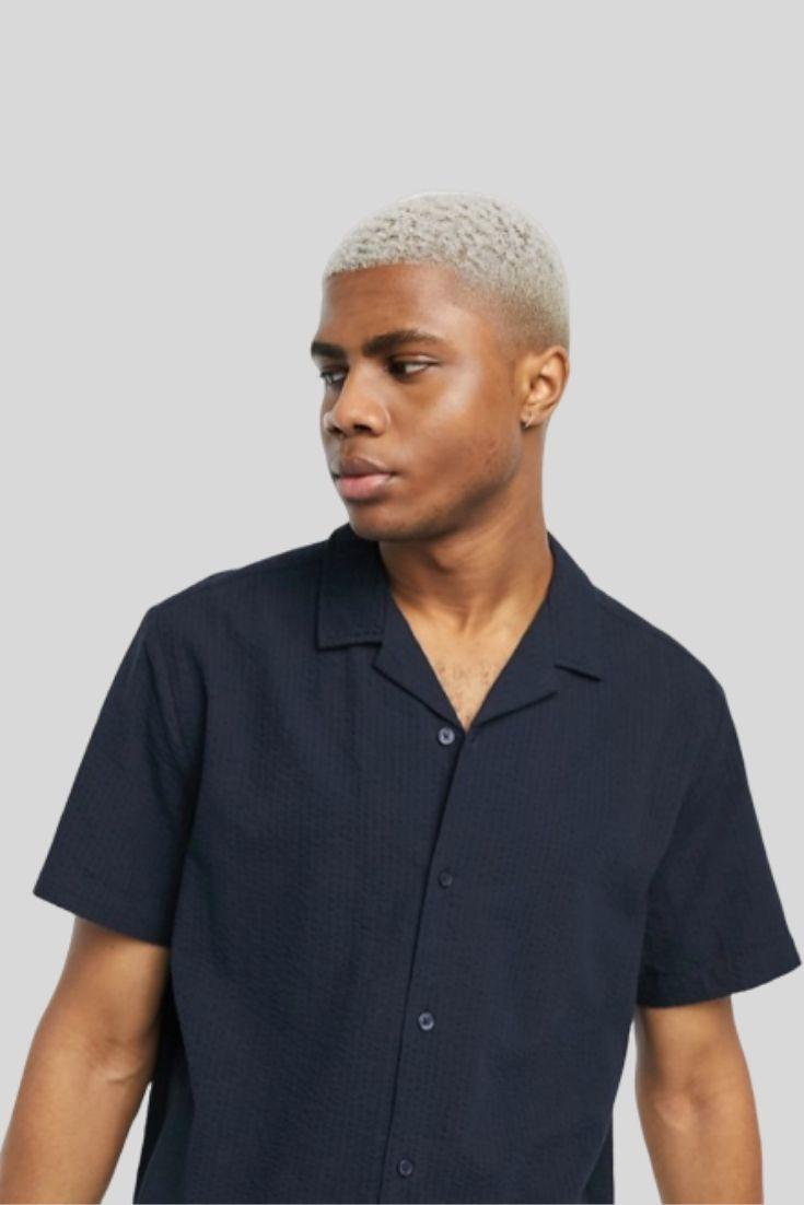ASOS chemise en coton crepon col revers