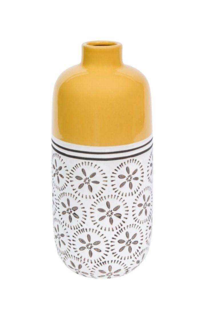 Vase en céramique jaune - KILALI