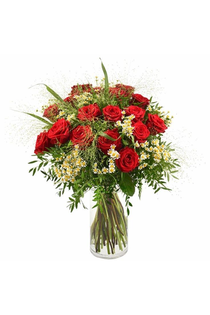 Bouquet de roses - Rouge Idylle
