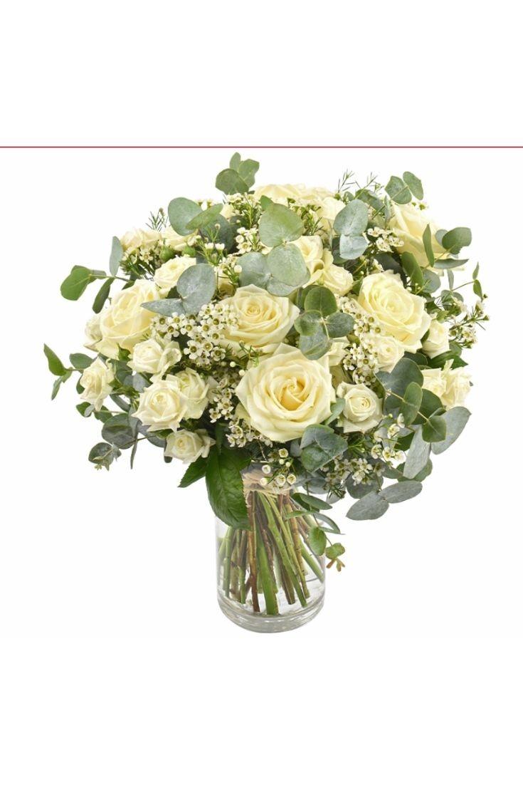Bouquet de roses - Vert coton