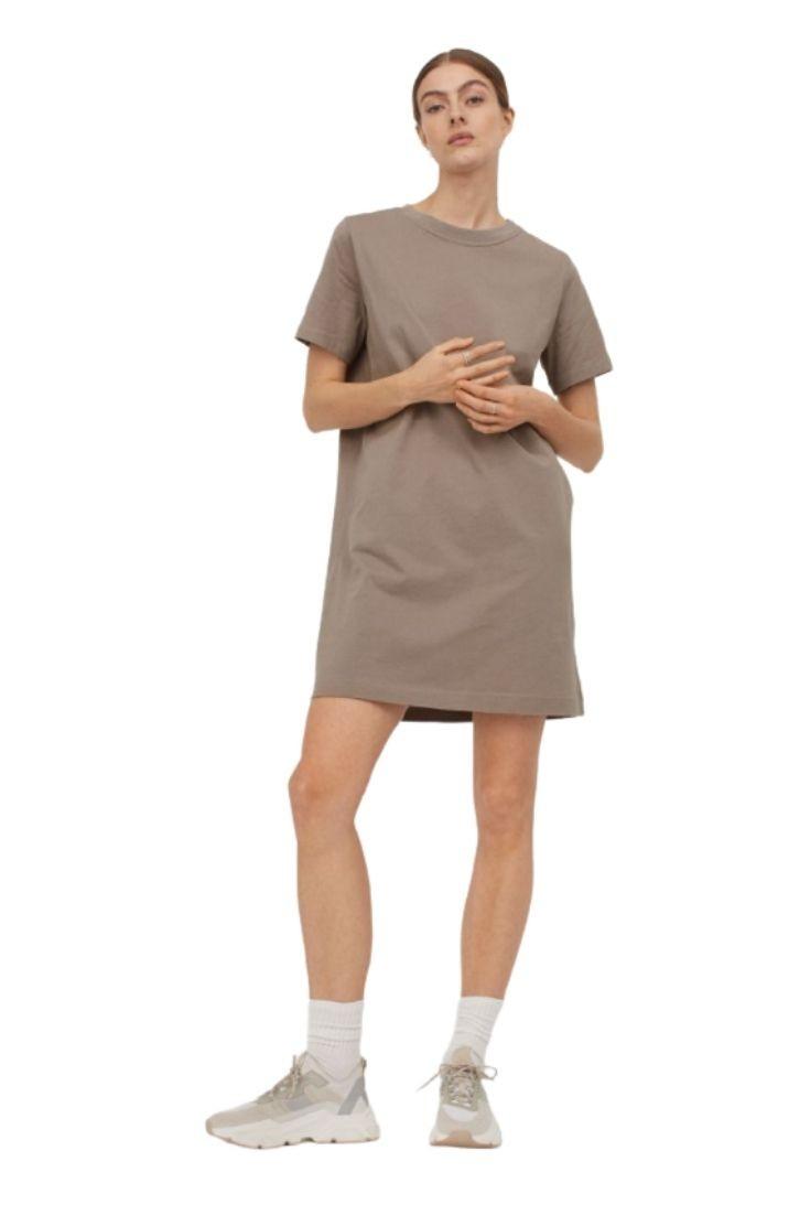 Robe T-shirt en coton